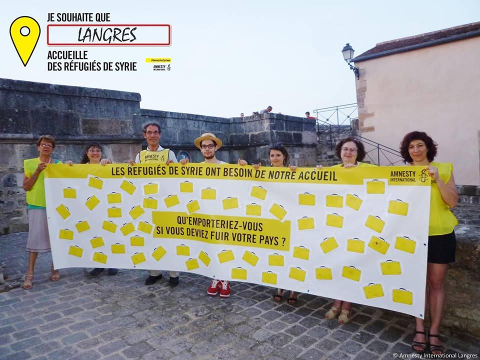 Campagne accueil des réfugiés deSsyrie