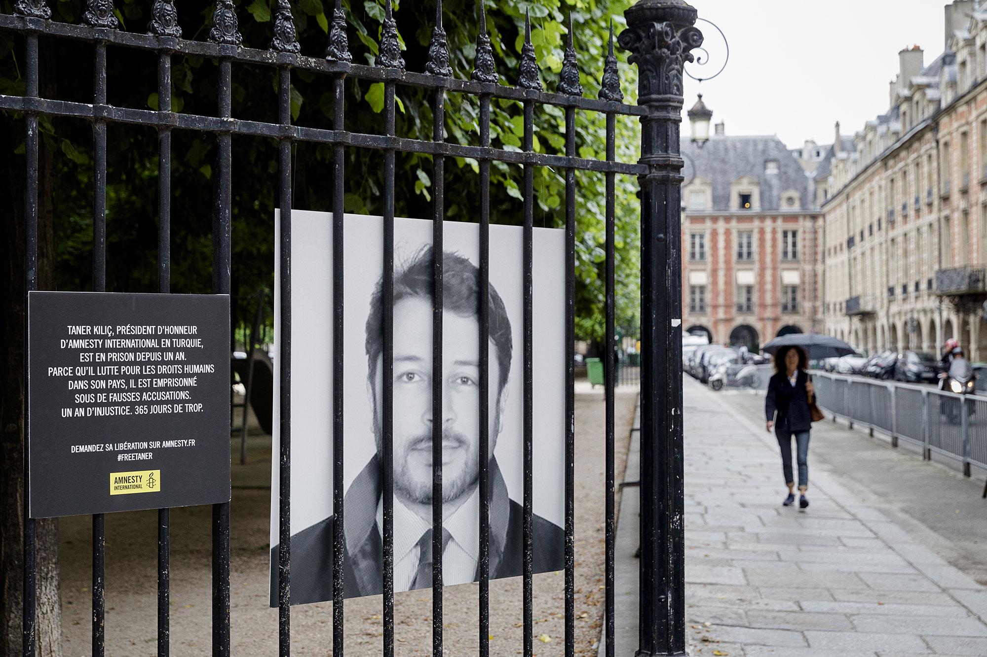 Action à Paris pour exiger la libération de Taner Kılıç