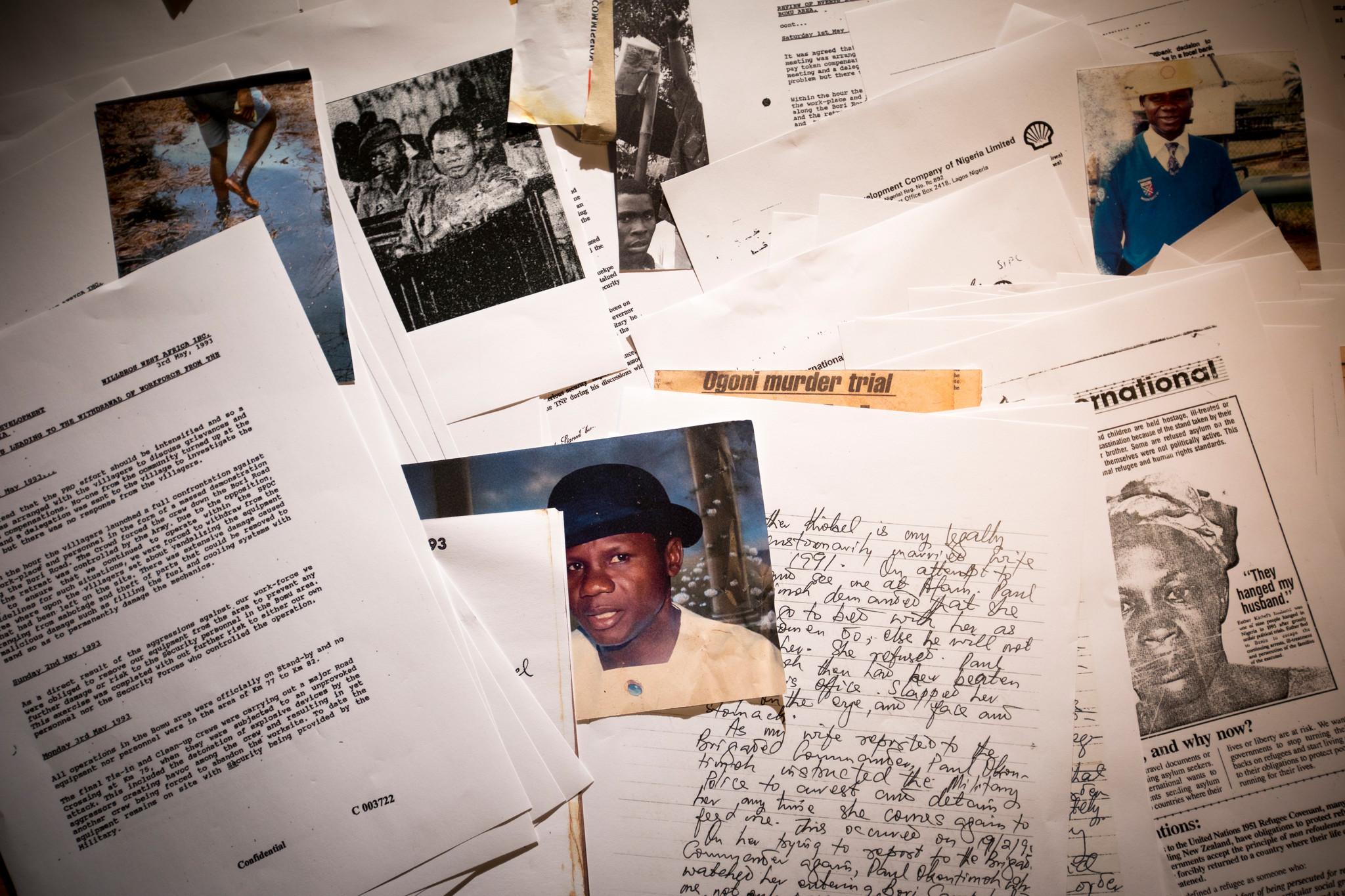 Dossier des chefs Ogonis assassinés. Nigeria