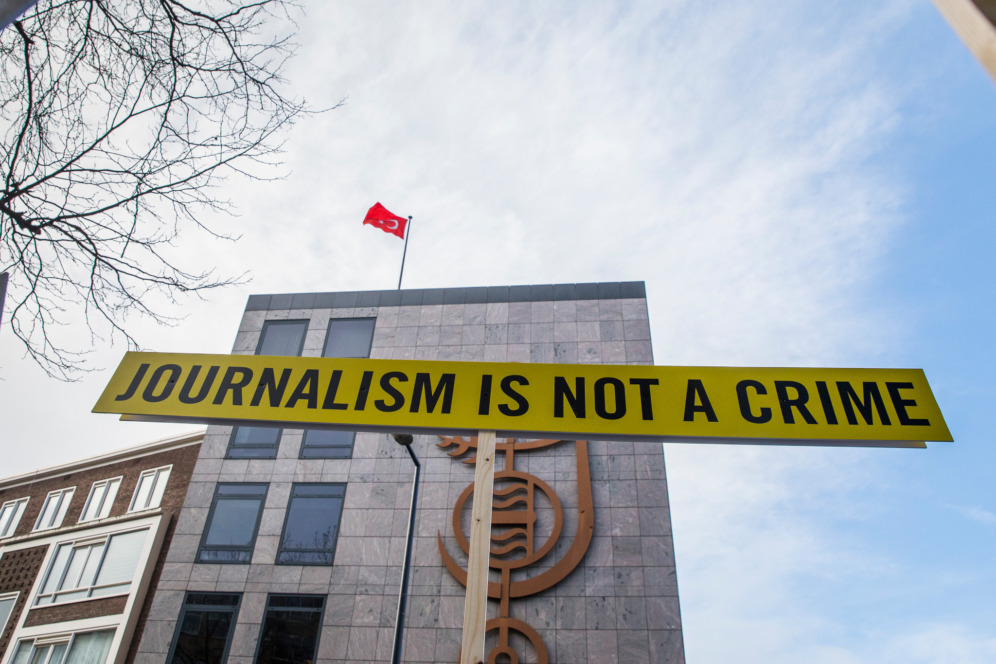 "Action ""Journalisme is not a crime"" en Turquie"