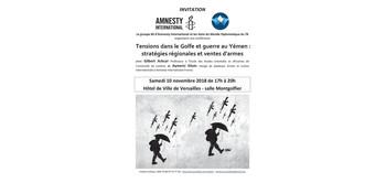 """Conférence """"Conflits du Golfe et Ventes d'armes"""" à Versailles"""